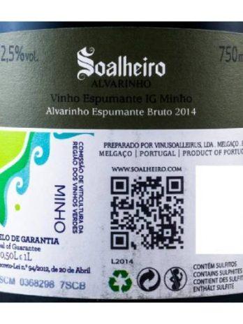 Espumante Soalheiro Alvarinho Bruto 2018